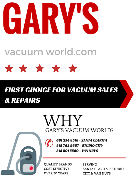 GARYS VACUUM WORLD SIMPLY THE BEST CHOICE FOR ALL RESIDENTIAL PRODUCTS REPAIRS ACCESSORIES